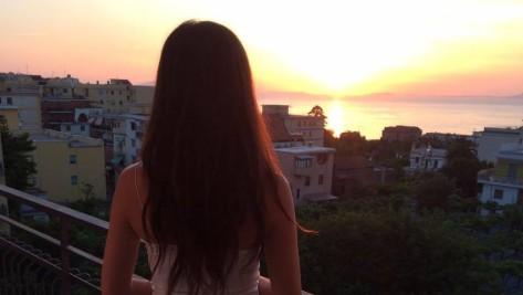 Sun setting over Sorrento